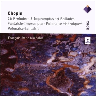 Francois-Rene Duchable 쇼팽: 전주곡, 즉흥곡, 발라드, 영웅적 폴로네즈 (Chopin: Preludes, Impromptus, Ballades, Polonaise 'Heroique')