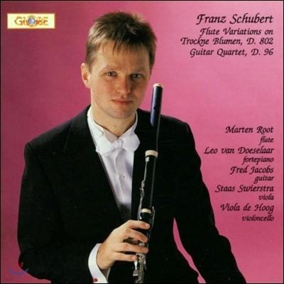 Marten Root 슈베르트: 시든 꽃 주제에 의한 플루트 변주곡, 기타 사중주 (Schubert: Flute Variations on Trockne Blumen D802, Guitar Quartet D96)
