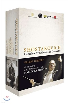 Valery Gergiev 쇼스타코비치: 교향곡과 협주곡 전곡 - 발레리 게르기예프 (Dimitri Shostakovic cycle) [블루레이]