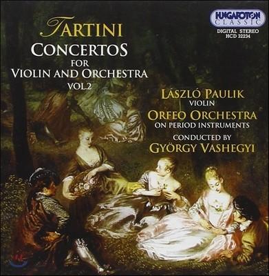 Laszlo Paulik 타르티니: 바이올린 협주곡 2집 (Tartini: Concertos for Violin and Orchestra Vol.2)