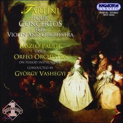 Laszlo Paulik 타르티니: 바이올린 협주곡 1집 (Tartini: Violin Concertos D.34, 47, 69, 101)