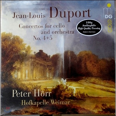 Peter Horr 장-루이 뒤포르: 첼로 협주곡 4번, 5번 (Jean-Louis Duport: Cello Concertos Nos.4, 5)