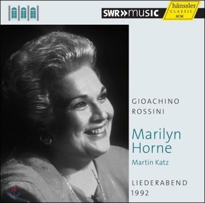 Marilyn Horne 1992년 가곡의 밤 - 로시니 (Liederabend 1992 - Rossini)
