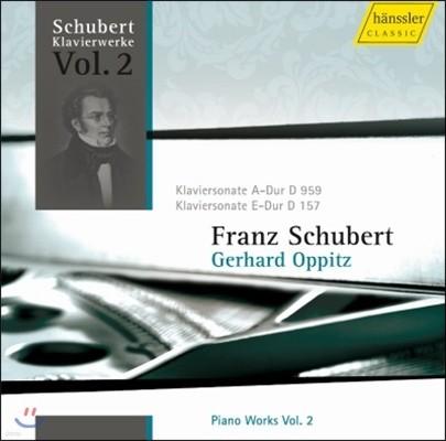 Gerhard Oppitz 슈베르트: 피아노 작품집 3집 (Schubert: Piano Works Vol.3)