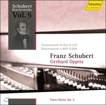 Gerhard Oppitz 슈베르트: 피아노 작품집 5집 (Schubert: Piano Works Vol.5)