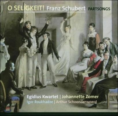 Egidius Kwartet / Johannette Zomer 아 황홀하여라! - 슈베르트: 합창 파트송 (O Seligkeit! - Schubert: Partsongs)