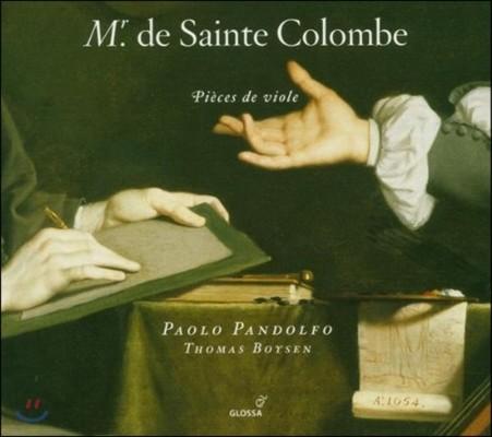 Paolo Pandolfo 생트 콜롱브: 비올 작품집 (Sainte Colombe: Pieces de Viole)