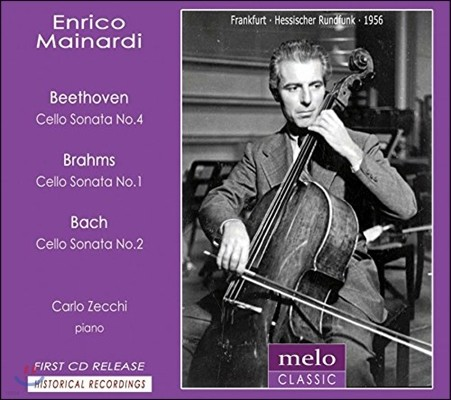 Enrico Mainardi 1956년 프랑크푸르트 방송 실황 - 베토벤 / 브람스 / 바흐: 첼로 소나타 (Beethoven / Brahms / Bach: Cello Sonatas)