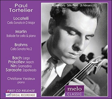 Paul Tortelier 1953년 파리 리사이틀 - 로카텔리 / 마르탱 / 브람스: 첼로 작품집 (Locatelli / Martin / Brahms: Cello Works)