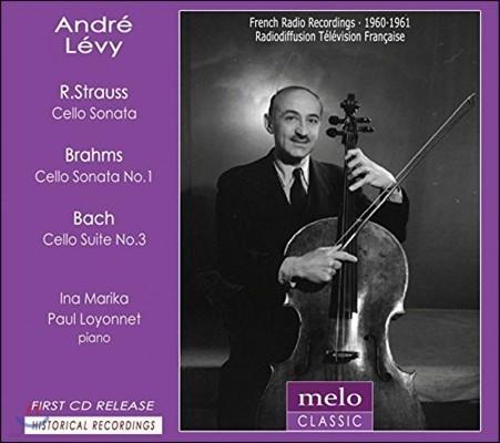 Andre Levy 앙드레 레비 1960-1961 프랑스 라디오 레코딩 - 슈트라우스 / 브람스 / 바흐: 첼로 소나타 (R. Strauss / Brahms / Bach: Cello Sonatas)