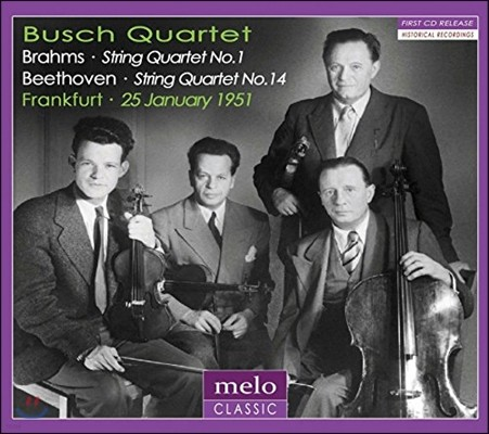 Busch Quartet 1951년 프랑크푸르트 공연 실황 - 브람스 / 베토벤: 현악 사중주 (Brahms: String Quartet No.1 / Beethoven: Quartet No.14)
