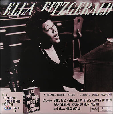 Ella Fitzgerald (엘라 피츠제럴드) - Let No Man Write My Epitaph [2LP]