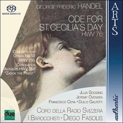 Diego Fasolis 헨델: 성 세실리아 축일을 위한 송가, 오르간 협주곡 13번 (Handel: Ode For St Cecilia's Day, Organ Concerto)