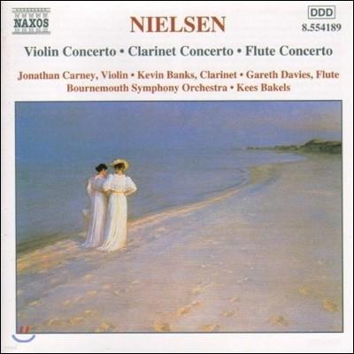 Kees Bakels 닐센: 바이올린 협주곡, 클라리넷 협주곡, 플루트 협주곡 (Nielsen: Violin Concerto, Clarinet Concerto, Flute Concerto)