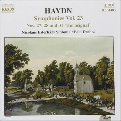 Bela Drahos 하이든: 교향곡 23집 - 27번, 28번, 31번 '호른 신호' (Haydn: Symphonies No.27, No.28, No.31 'Hornsignal')