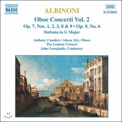 John Georgiadis 알비노니: 오보에 협주곡 2집 (Albinoni: Oboe Concertos Op.7, Op.9 No.6, Sinfonia in G Major)