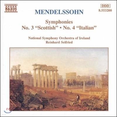 Reinhard Seifried 멘델스존: 교향곡 3번 '스코틀랜드', 4번 '이탈리아' (Mendelssohn: Symphonies 'Scottish', 'Italian')
