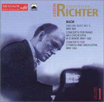 바흐 : 영국 모음곡 3번, 협주곡 - 리히터, 베데르니코프