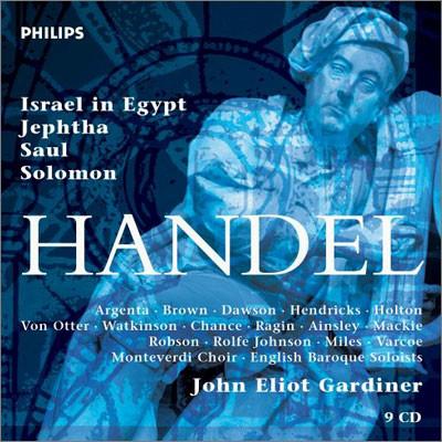John Eliot Gardiner 헨델: 오라토리오 - 이집트의 이스라엘인, 사울, 솔로몬 (Handel: Oratorios)