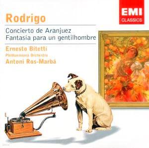 Rodrigo : Concierto De Aranjuez : BitettiㆍRos-Marba