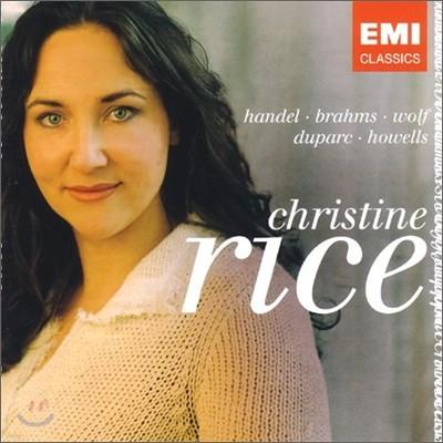 Christine Rice - Debut