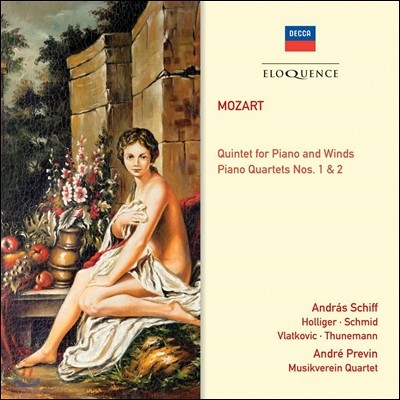 Andras Schiff / Heinz Holliger / Andre Previn 모차르트: 피아노와 목관을 위한 5중주, 피아노 4중주 1,2번 (Mozart Quintet For Piano And Winds, Piano Quaret No.1,2)