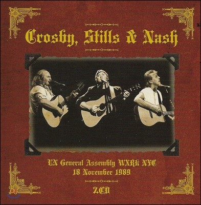 Crosby, Stills & Nash - UN General Assembly WXRK NYC 18 November 1989