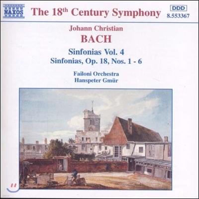 Hanspeter Gmur 요한 크리스티안 바흐: 신포니아 4집 (J.C. Bach: Sinfonias Op.18 Nos.1-6)