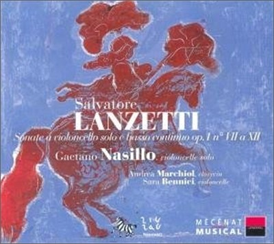 Gaetano Nasillo 란체티 : 첼로 소나타 (Salvatore Lanzetti: Sonatas for Cello)