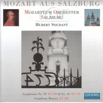 Salzburg Mozarteum Orchestra 모차르트: 교향곡 34번 39번, 미뉴엣 (Mozart: Symphony No.39 & 34)
