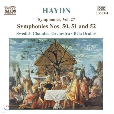 Bela Drahos 하이든: 교향곡 27집 - 50번, 51번, 52번 (Haydn: Symphonies No.50, No.51, No.52)