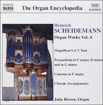 Julia Brown 하인리히 샤이데만: 오르간 작품 전곡 4집 - 마니피카트 1 & 5권, 칸초나 - 줄리아 브라운 (Heinrich Scheidemann: Magnificat I & V Toni, Canzona, Praeambula)
