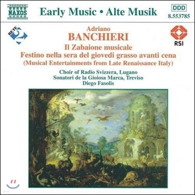Diego Fasolis 반키에리: 자바이오네 무지칼레 - 후기 르네상스의 이탈리아 음악 (Early Music - Banchieri: Il Zabaione Musicale)