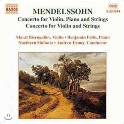 Andrew Penny 멘델스존: 바이올린과 피아노, 현을 위한 협주곡 (Mendelssohn: Concerto for Violin, Piano and Strings)