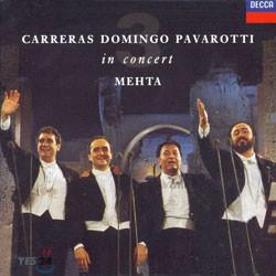 Jose Carreras / Placido Domingo / Luciano Pavarotti 쓰리 테너 인 콘서트 : 1990년 로마 월드컵 공연 25주년 기념 (3 tenors In Concert) [LP]