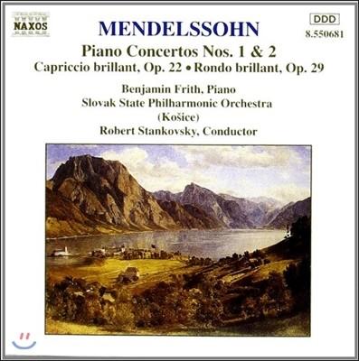 Robert Stankovsky 멘델스존: 피아노 협주곡, 화려한 카프리치오 (Mendelssohn: Piano Concertos, Capriccio Brillant, Rondo Brillant)