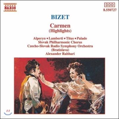 Alexander Rahbari 비제: 카르멘 하이라이트 (Bizet: Carmen Highlights)