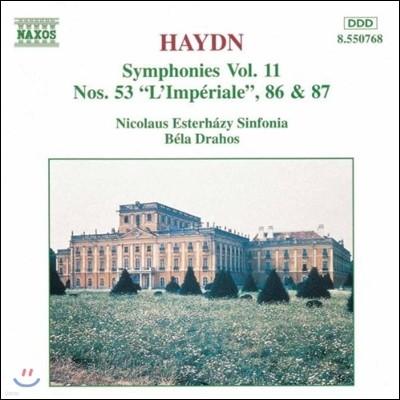 Bela Drahos 하이든: 교향곡 11집 - 53번 '제국', 86번, 87번 (Haydn: Symphonies No.53 L'Imperiale, No.86, No.87)