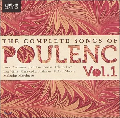 Malcolm Martineau 풀랑: 가곡 전집 Vol.1 (Poulenc: The Complete - Metamorphoses, A Sa Guitare, Rosemonde, Parisiana)