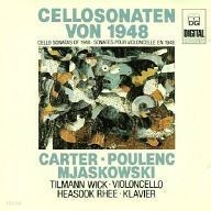 Tilmann Wick, Heasook Rhee / Cellosonaten von 1948 Mjaskowski .Carter .Poulenc (수입/MDGL3397)