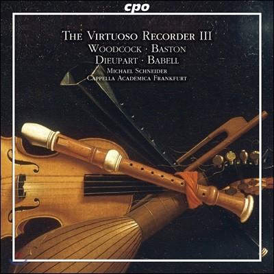 Michael Schneider 비르투오조 리코더 3집 - 영국 바로크 리코더 협주곡 (The Virtuoso Recorder Vol.3 - English Baroque Concertos)