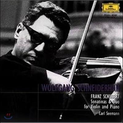 Wolfgang Schneiderhan 슈베르트: 바이올린 소나타 '듀오', 소나티네 (Schubert : Violin Sonata 'Duo')