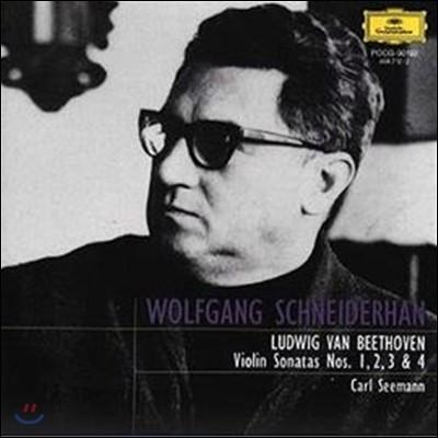 Wolfgang Schneiderhan 베토벤: 바이올린 소나타 1-4번 (Beethoven : Violin Sonatas No.1-4)