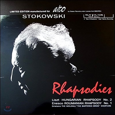 Leopold Stokowski 랩소디 - 리스트: 헝가리안 랩소디 2번 / 에네스쿠: 루마니아 랩소디 (Rhapsodies - Liszt / Enesco / Smetana) [LP]