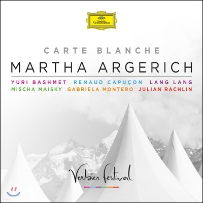 Martha Argerich 까르뜨 블랑슈 - 마르타 아르헤리치 베르비에 페스티벌 공연실황 앨범 (Carte Blanche)