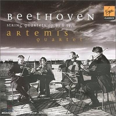 Beethoven : String Quartet op.95 & 59/1 : Artemis Quartet