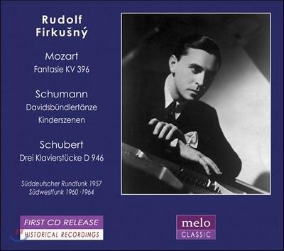 Rudolf Firkusny 모차르트: 환상곡/ 슈만: 다비드 동맹 무곡, 어린이 정경/ 슈베르트: 3개의 피아노 소품 (Mozart, Schumann & Schubert) 루돌프 피르쿠스니