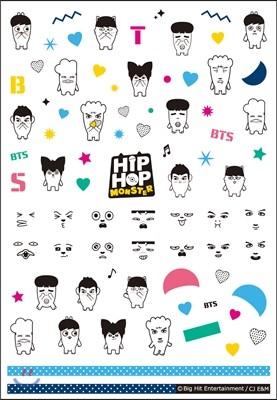 방탄소년단 - 힙합 몬스터 (HIP HOP MONSTER) 네일 스티커
