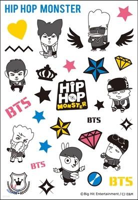 방탄소년단 - 힙합 몬스터 (HIP HOP MONSTER) 타투 스티커