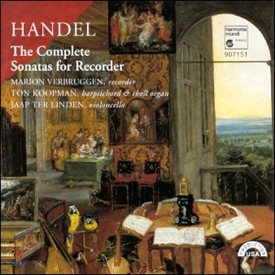 Marion Verbruggen 헨델: 리코더 소나타 전곡집 (Handel: Complete Sonatas for Recorder)